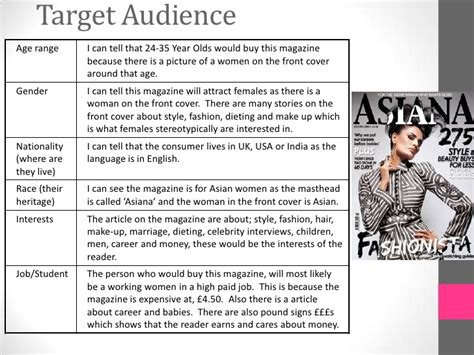 In Style New Magazine Targeting Late by Task 8 Target Audience Magazines New