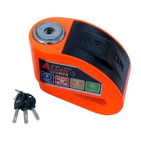 armor  mva alarmli disk kilidi motosiklet disk kilitleri