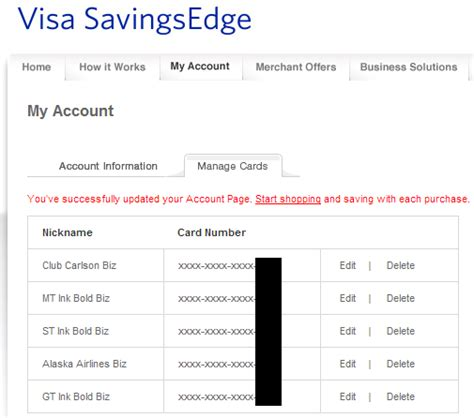 Bank Letter Us Visa Visa Savings Edge Cards