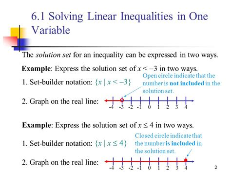 solving single how to get the ring not the run around books 6 1 solving linear inequalities in one variable ppt