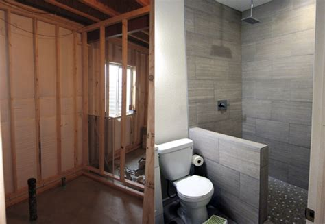 how to finish a bathroom how to finish a basement bathroom before and after pictures