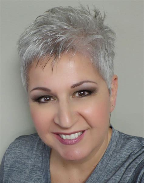 hairstyles grey hair funky short hair pinteres