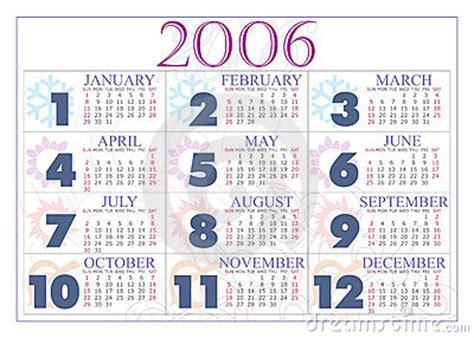 Calendario Ano 2006 Calendario 2006 Immagini Stock Libere Da Diritti