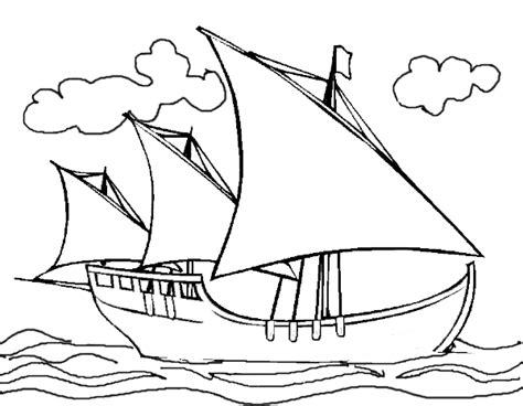 columbus day coloring page christopher columbus s ship
