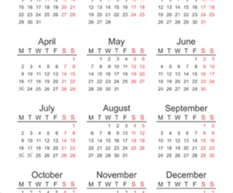free printable yearly calendar for 2016, 2017, 2018
