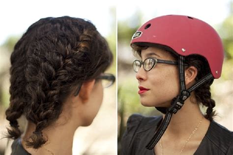 hairstyles for bike helmets how to wear a bike helmet with short hair bicycling and
