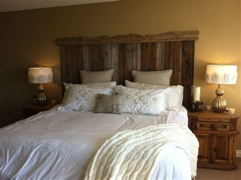 homemade headboard barn board headboard twobertis