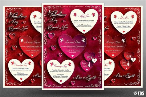valentines day menu template v1 designs bucket free