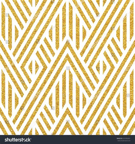 geometric striped ornament vector gold seamless stock