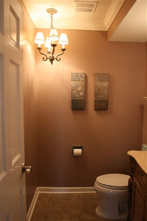 bath chandelier traditional powder room detroit