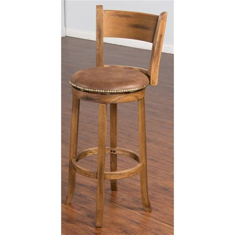 rustic bar stools swivel sunny designs sedona 30 quot swivel bar stool in rustic oak