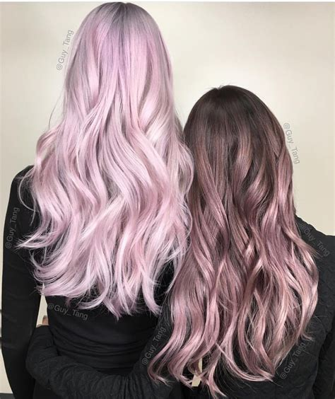 metallic pink hair color and metallic hair color