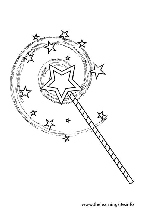 princess wand coloring pages the learning site