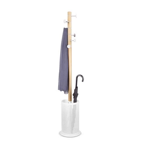 Umbrella Rack by Umbra Promenade Coat Rack Umbrella Stand White Black