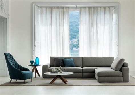 joey couch joey sofa with removable chaise longue berto salotti