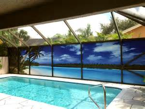 Turquoise White Curtains A New Take On Pool Privacy Screen