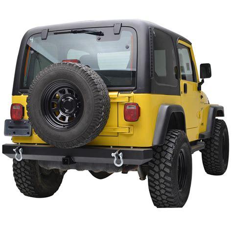 jeep wrangler tj rear bumper 87 06 jeep wrangler yj tj classic rear bumper w d rings