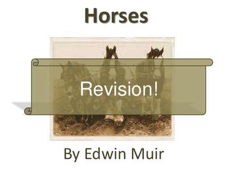 the horses edwin muir