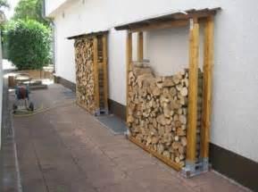feuerholz gestell brennholzunterstand bauanleitung zum selber bauen