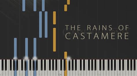 tutorial piano game of thrones the rains of castamere game of thrones synthesia piano