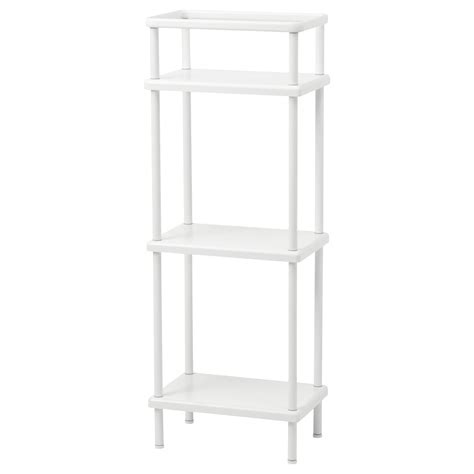 Bathroom Towel Storage Units Dynan Shelf Unit With Towel Rail White 40x27x108 Cm Ikea