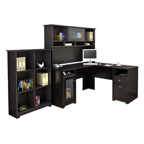 Bush Desk With Hutch Bush Furniture Bush Signature Cabot L Desk With Hutch And Bookcase Bush Signature Http Www