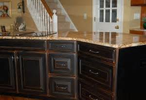 How To Distress Kitchen Cabinets Distressed Black Kitchen Cabinets Images