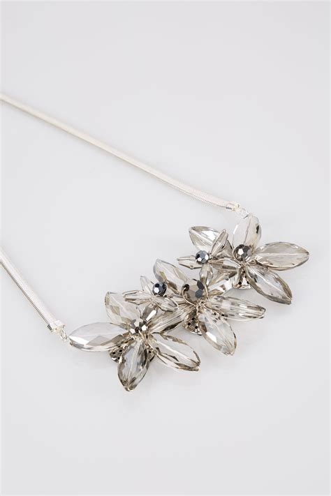 Check Jewel Gift Card Balance - silver floral jewel necklace