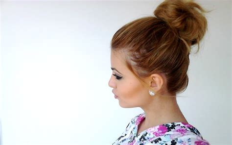 how to put in hair how to put hair in a bun the science