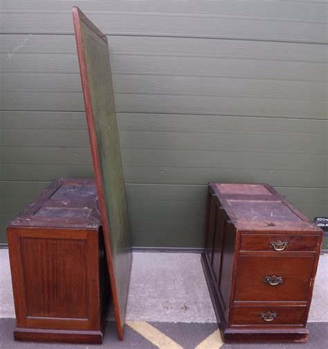 Antique Sided Partners Desk by Large Sided Pedestal Partners Desk Antiques
