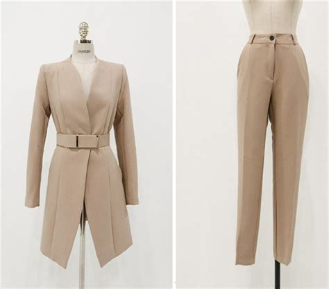 Baju Setelan Wanita Import Green Mixed Set Size L 218540 office set wanita korea blazer trousers jyg19055khaki coat korea