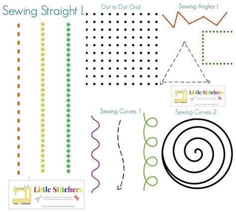 printable paper sewing practice sheets free printables to teach kids how to sew