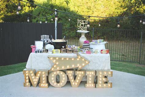 kara s party ideas outdoor movie night thirtieth birthday party