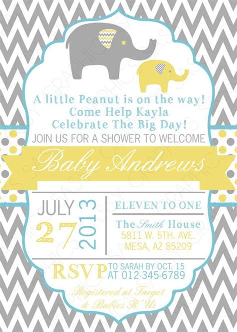 Baby Shower Invitation For Boy by Boy Baby Shower Invitation Baby Boy Invitation Grey