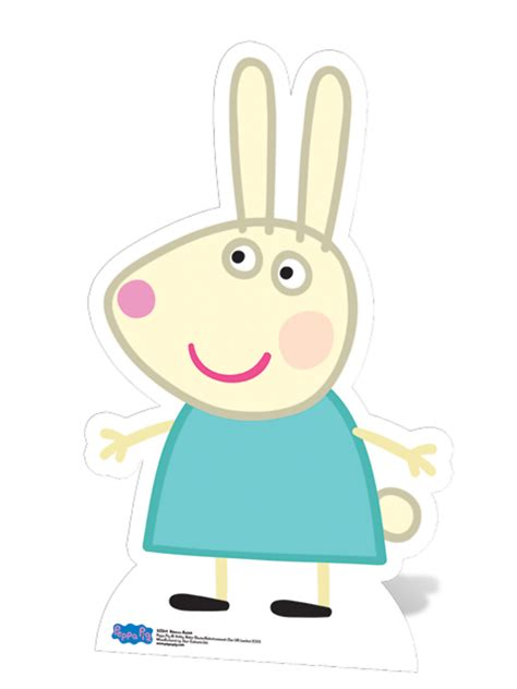 rebecca rabbit cardboard cutout peppa pig party cutouts party ark