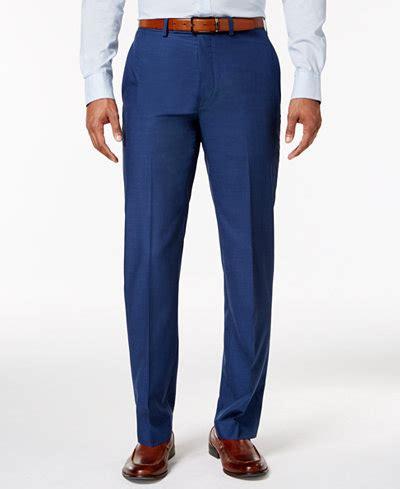 light blue slacks mens calvin klein s slim fit blue solid dress