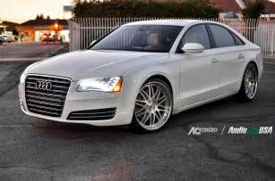 2013 audi a8 on 22 quot ac forged 311 brush chrome lip