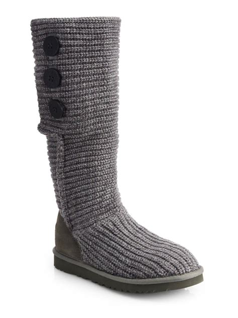 ugg cardy boots ugg classic cardy boot in gray lyst