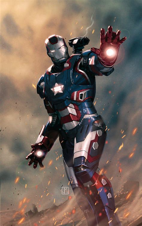 Ironman Patriot Marvel jorge molina might be my new favorite comic book artist this is one of best covers i ve