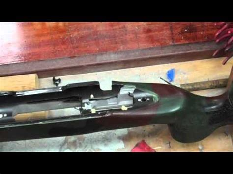 bedding a rifle rifle bedding part 5 youtube