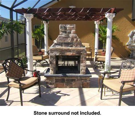 mirage see through outdoor woodburning fireplace