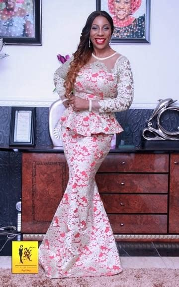 nhn couture cord lace red and white lace aso ebi style by nhn couture makeup