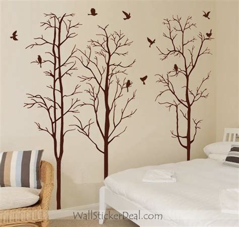 tree wall sticker winter tree wall stickers wallstickerdeal