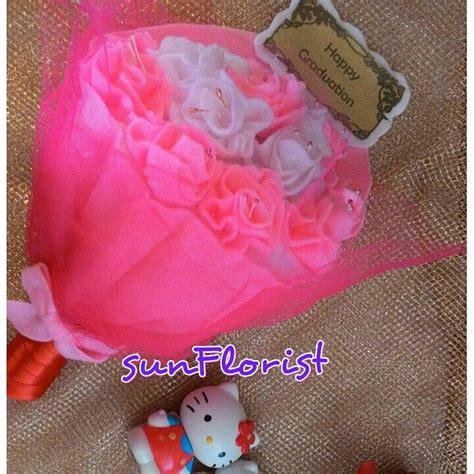 Bunga Flanel Besar jual buket handbouquet bunga mawar kain flanel untuk