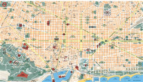 map of barcelona barcelona vector map illustrator as digital file purchase our eps illustrator