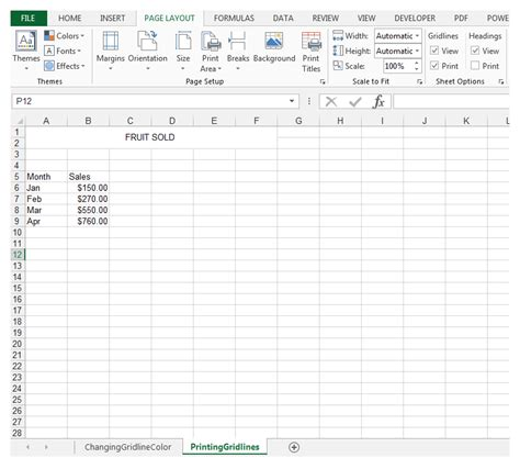 Print Spreadsheet With Gridlines by How To Print Excel Spreadsheet With Grid Lines And Change