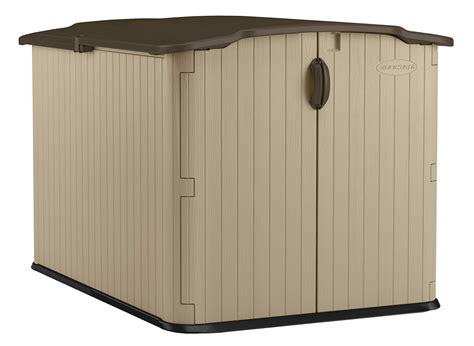 suncast    glidetop horizontal storage shed natural