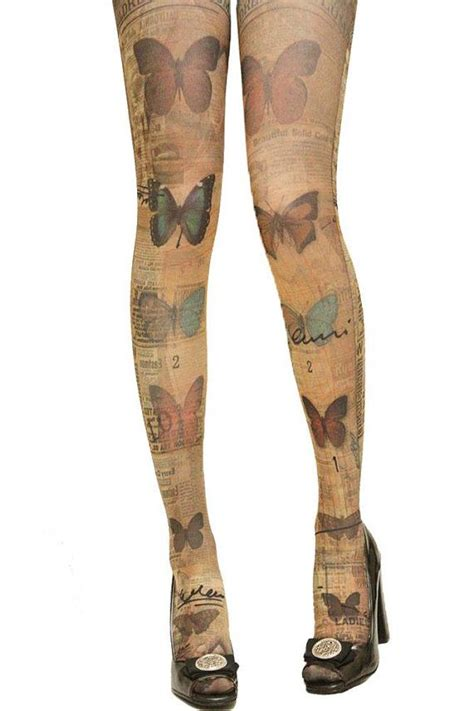 butterfly tattoo tights uk new romantic butterfly tattoo hipster chic pantyhose