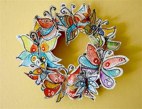paper butterfly craft ideas recycled paper butterflies allfreeholidaycrafts