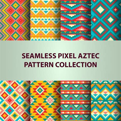 aztec pattern for photoshop aztec cute patterns with pixels vector free download